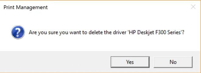 remove printer driver
