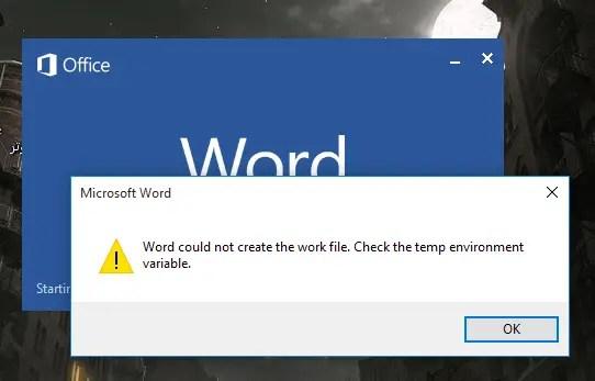 temp files windows 10 word