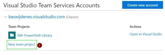 PowerShell to Visual Studio Online Repository
