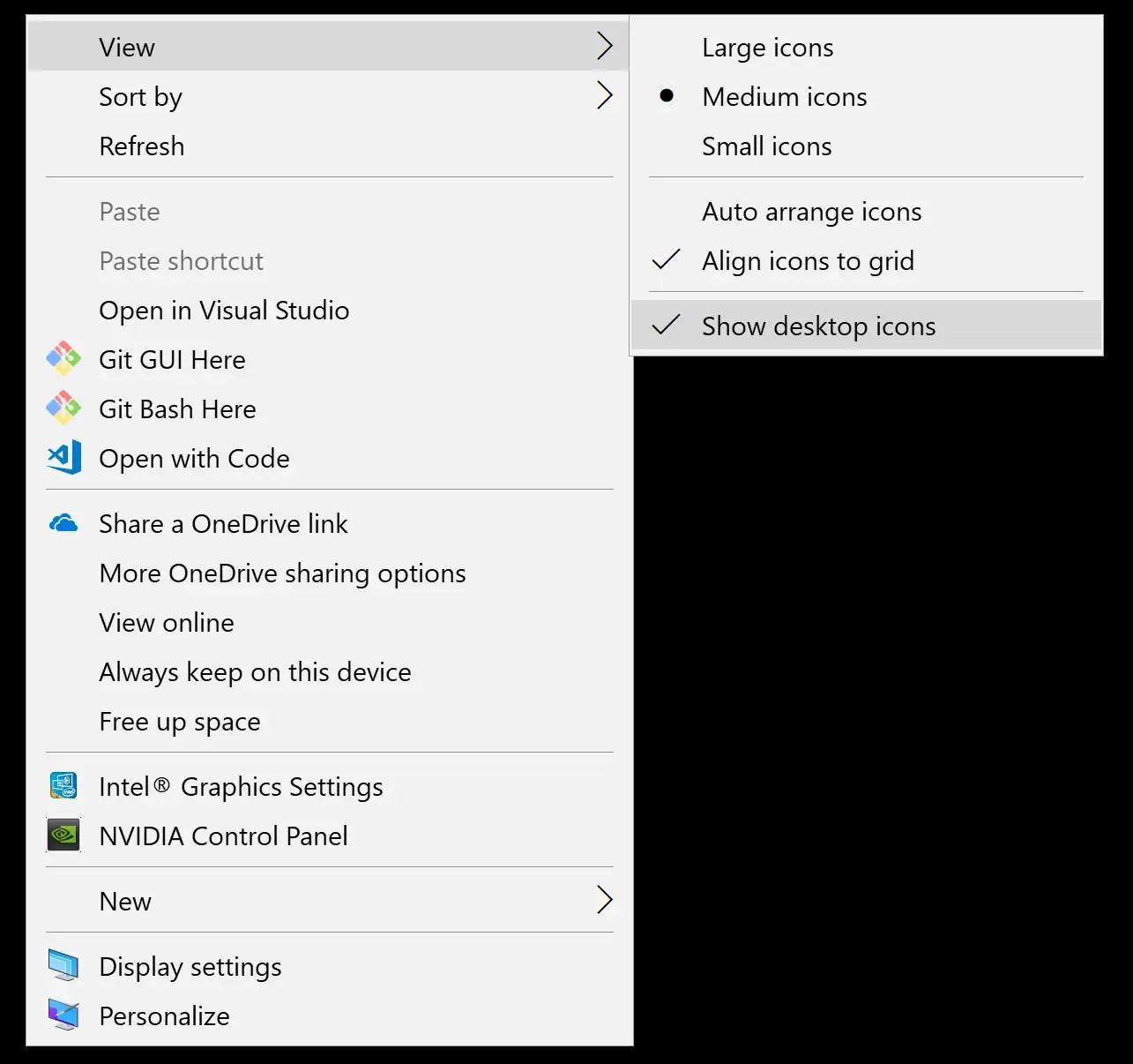 Windows 10 Desktop Icons Missing