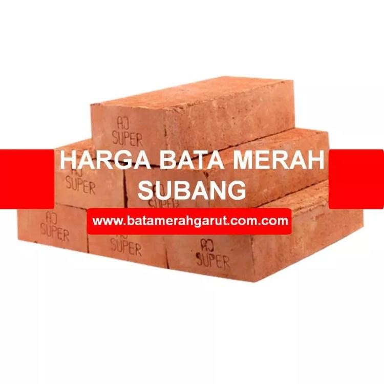 Harga bata merah Subang