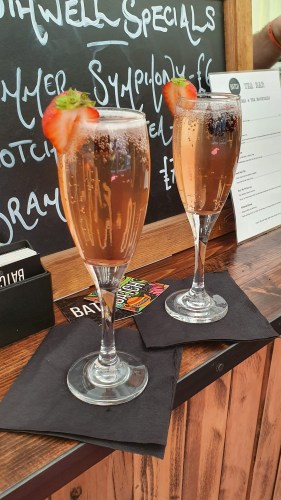 Meet me at Sunset tea & Prosecco cocktail at Southwell Music Festival