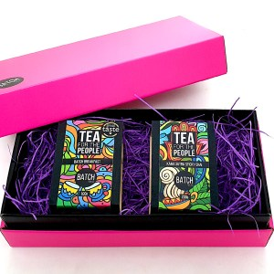 Morning Glory Tea Gift Set - Pink with black inner