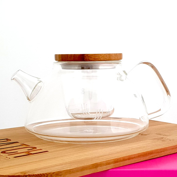 Samadoyo Glass Infuser Teapot with bamboo lid