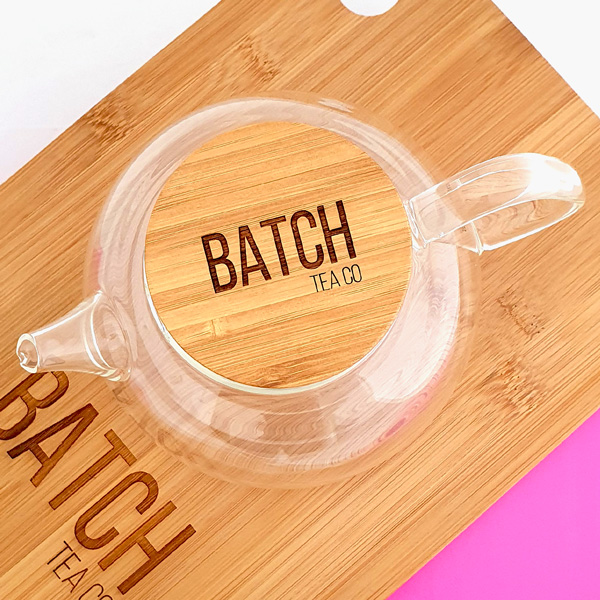 Samadoyo Glass Infuser Teapot - branded bamboo lid