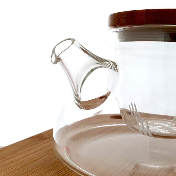 Samadoyo Glass Infuser Teapot - non-drip spout
