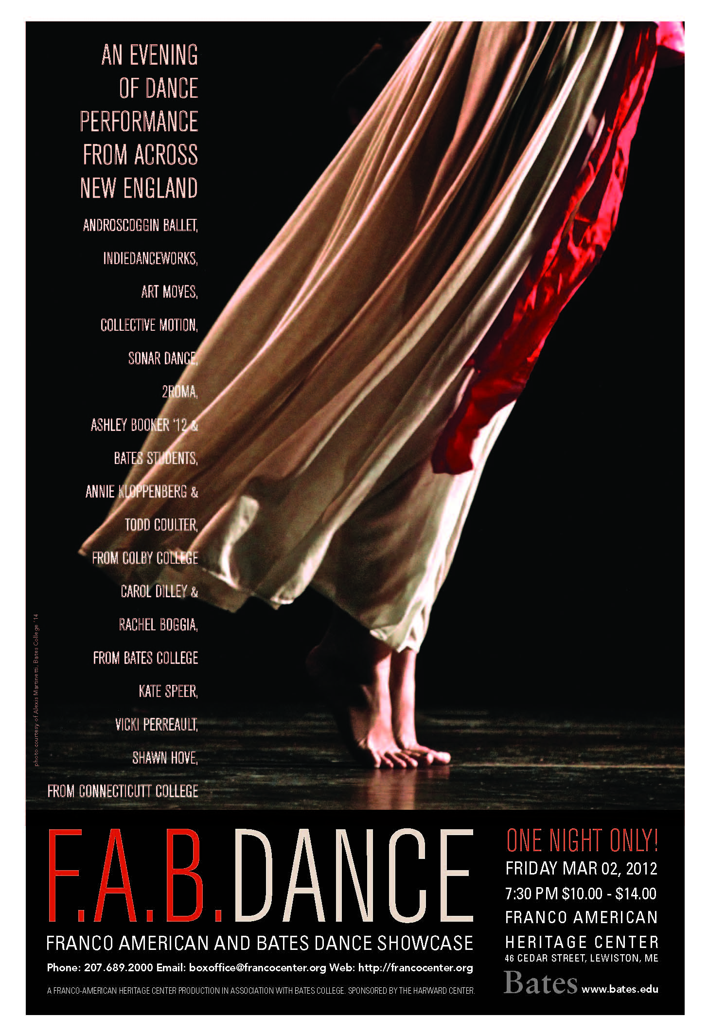 Performance Posters Dance Bates College