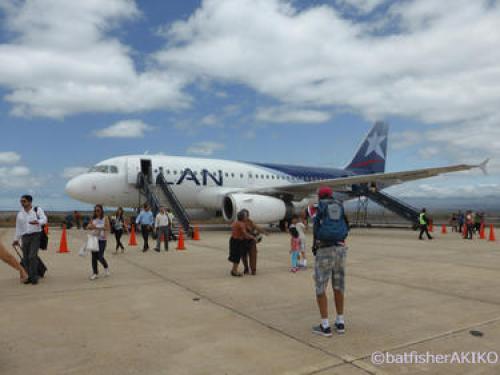 エクアドル本土とガラパゴス諸島を結ぶ国内線旅客機