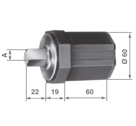 CF60 pole-hand crank end-limit plastic cap