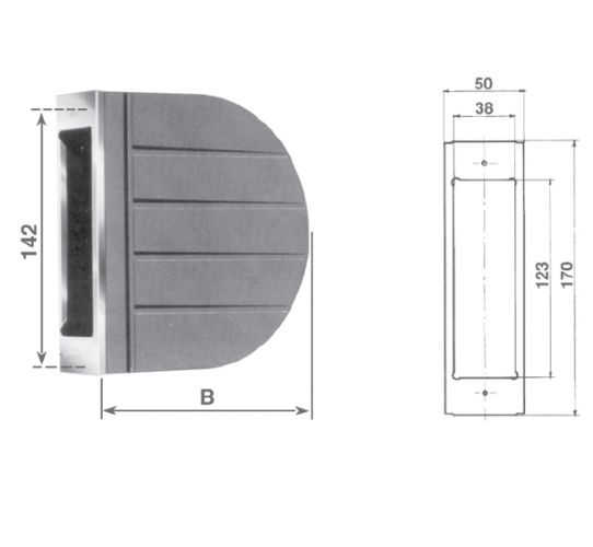 SPAS PVC box for semi-recessed wrapper