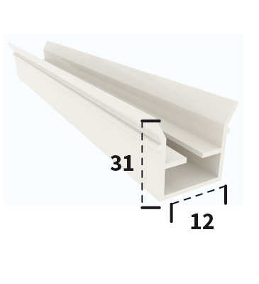 ZPL22105 Magnet-carrying profile