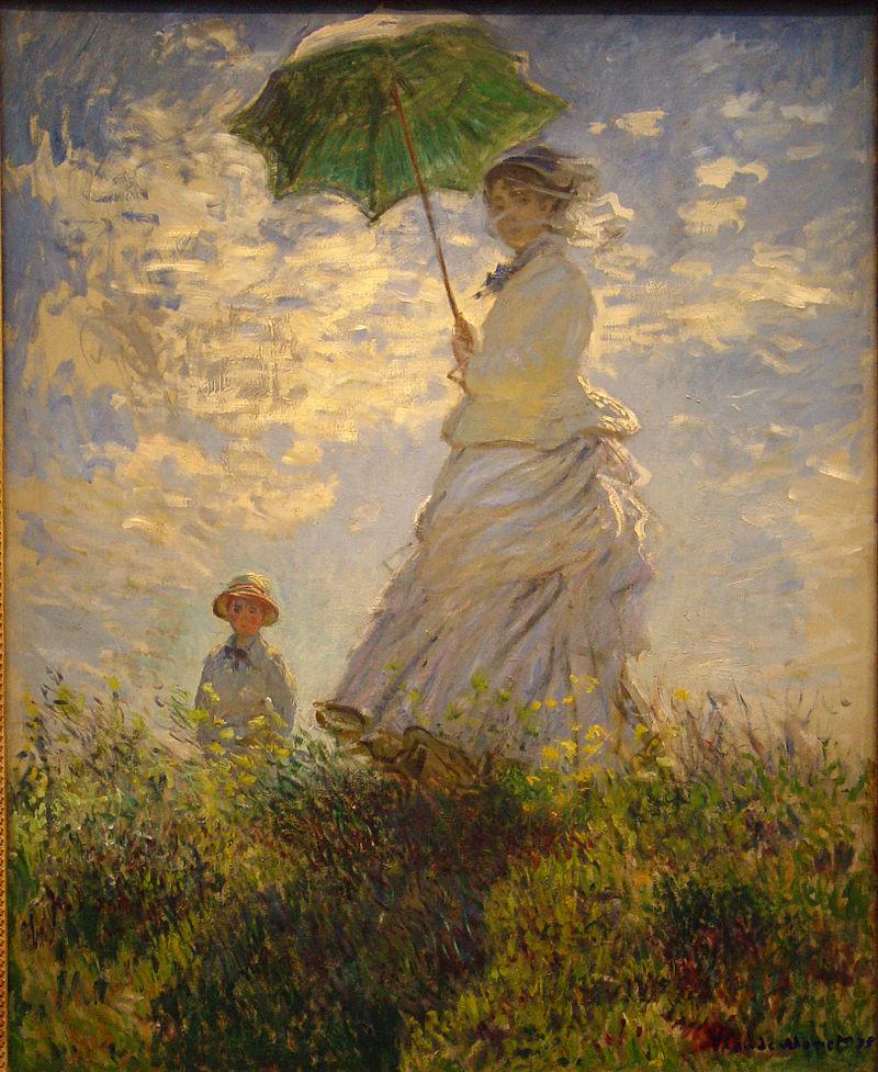 מונה אישה עם שמשיה - 1875