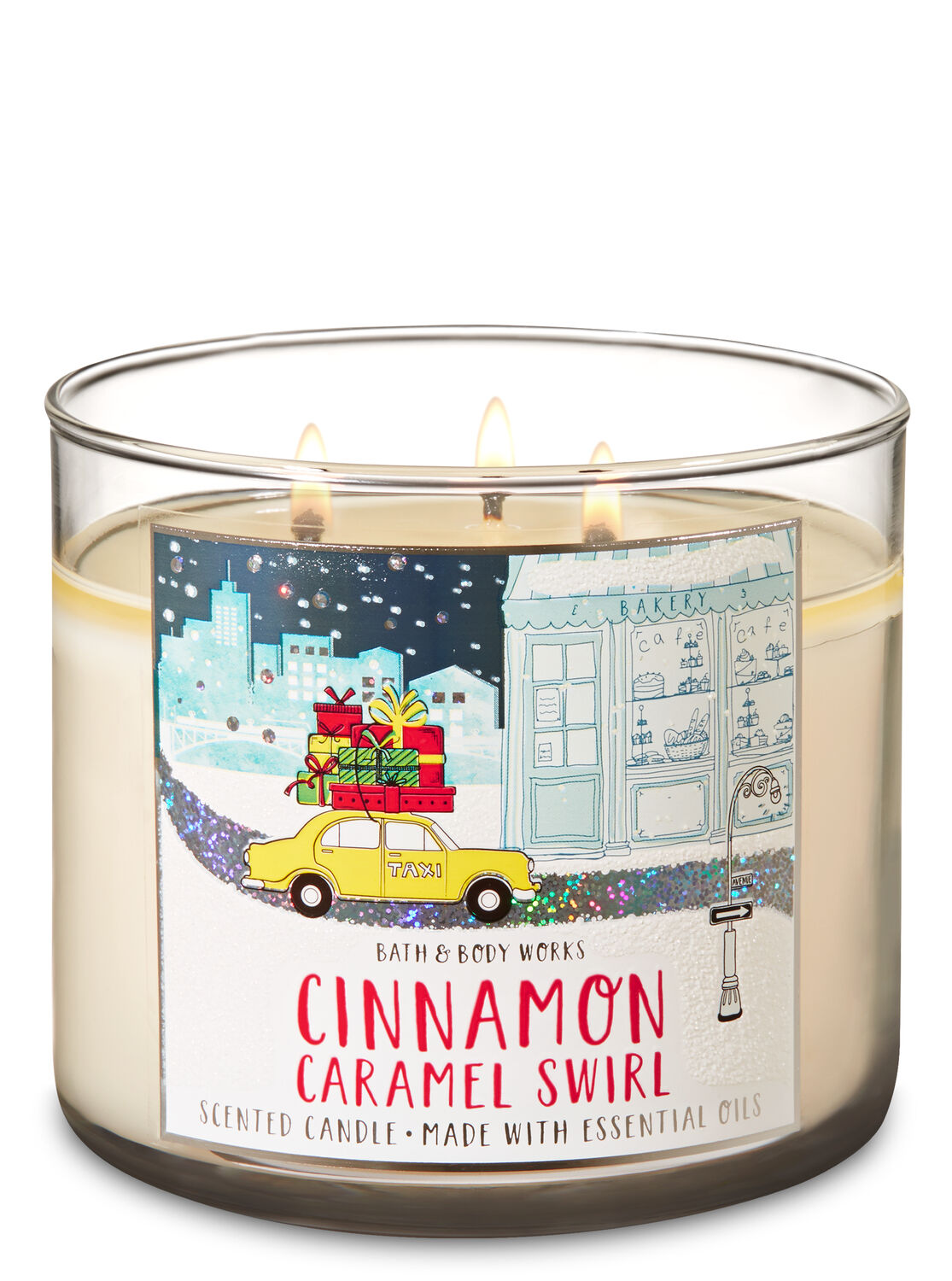 Cinnamon Caramel Swirl 3-Wick Candle - Bath And Body Works
