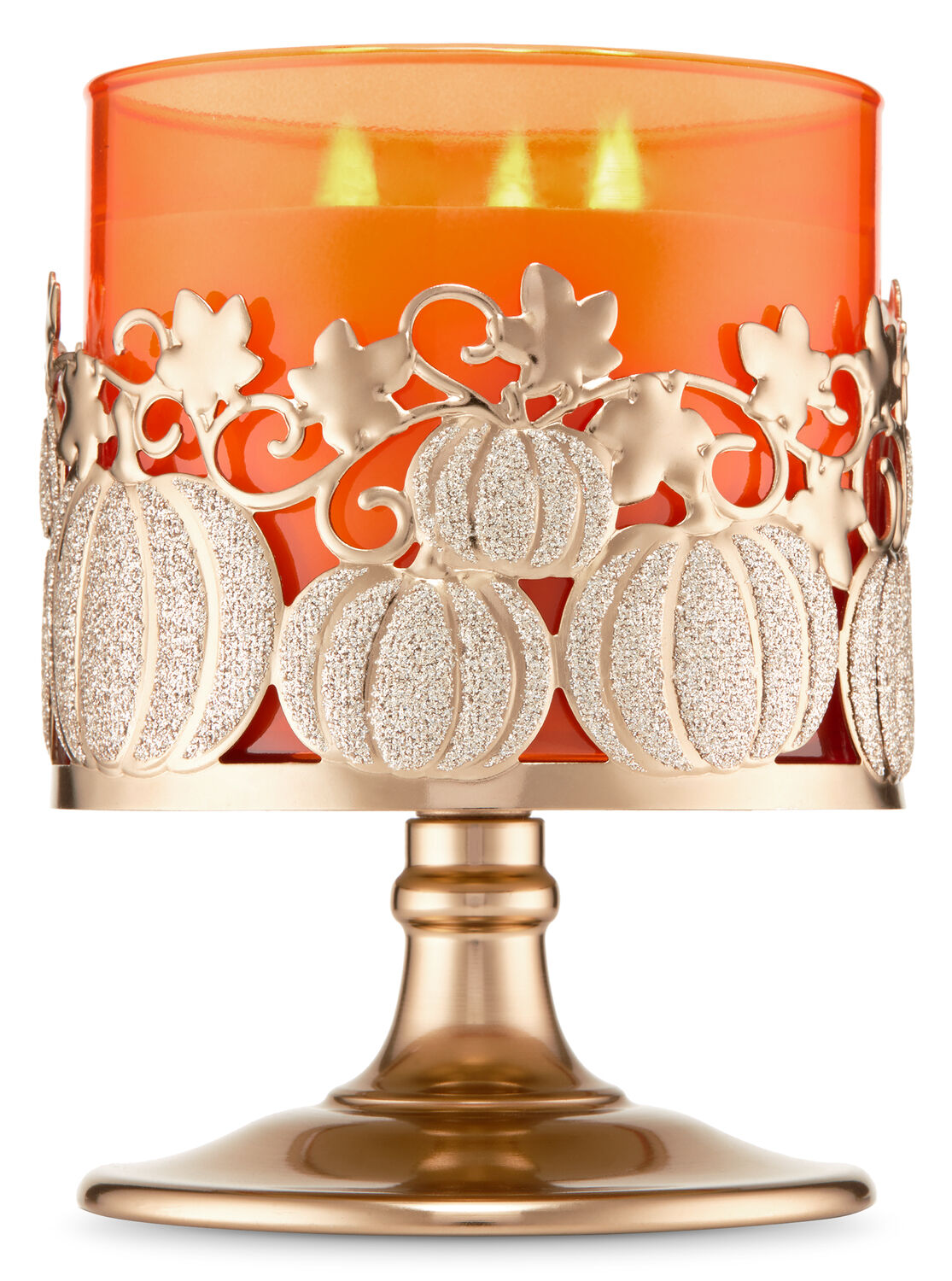 Pumpkin Vine Pedestal 3-Wick Candle Holder - Bath And Body Works