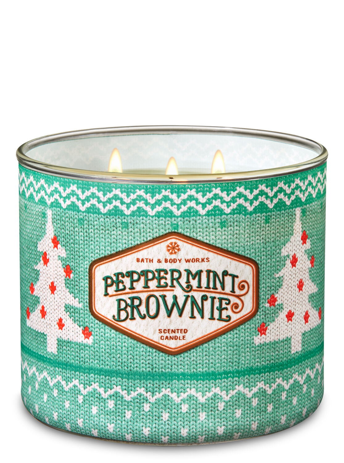 Peppermint Brownie 3-Wick Candle - Bath And Body Works