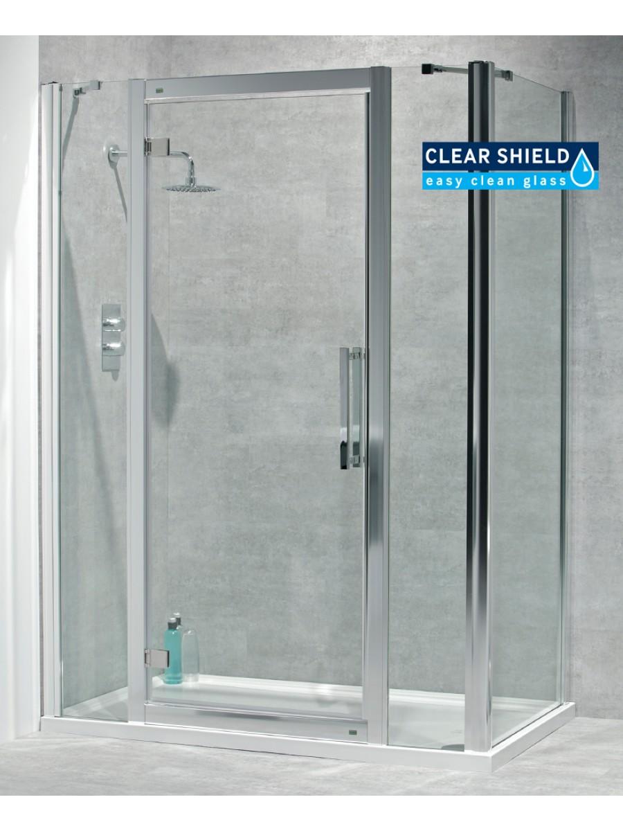 Avante 8mm 1500mm Hinged Shower Door And Double Infill Panel Adjustment 1440 1500mm