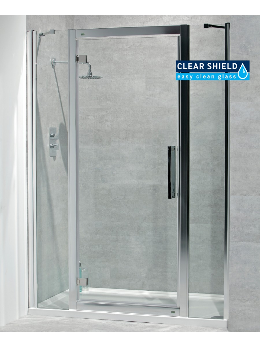 Avante 8mm 1600mm Hinged Shower Door And Double Infill Panel Adjustment 1540 1600mm
