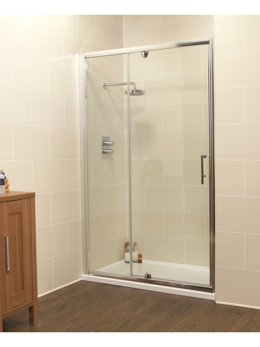 Kyra Range 1000 Pivot Shower Door Inline Shower Enclosure Adjustment 960 1020mm