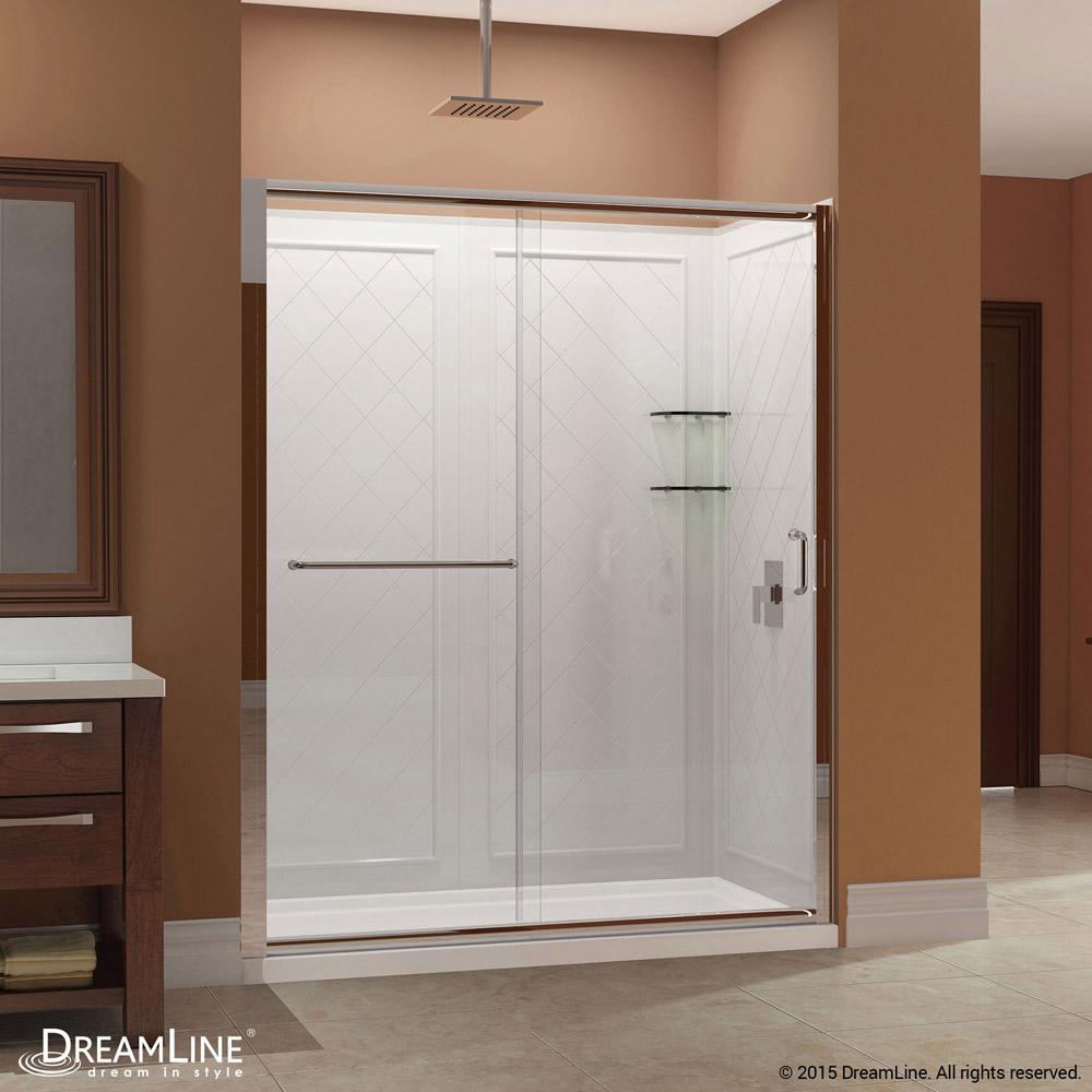 Infinity Z Sliding Shower Door Base Amp Backwall Kits