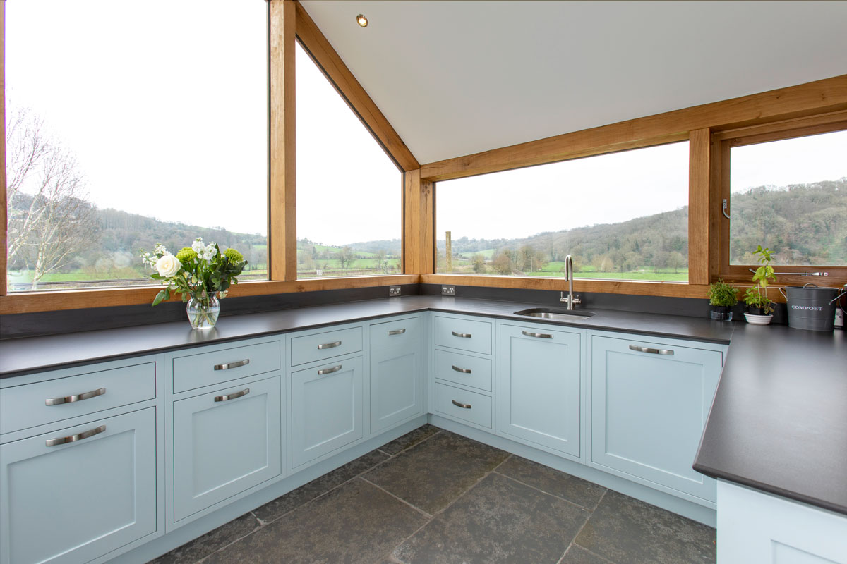 Light Blue Shaker Kitchen