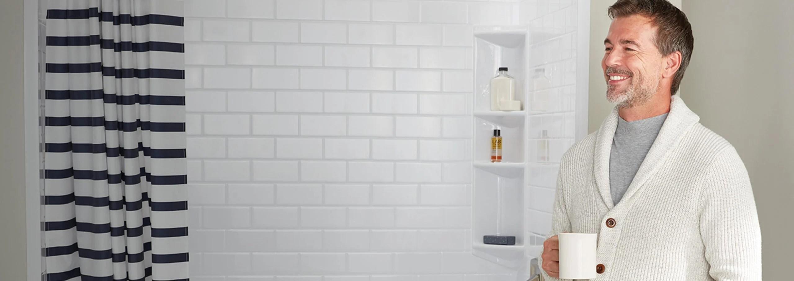 shower wall panels bath fitter