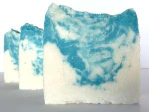 Jasmine (HP) 100% Olive Oil Castile Soap cross-section