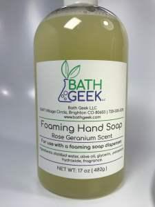 Rose Geranium Foaming Hand Soap