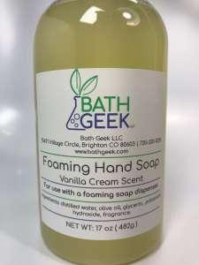 Vanilla Cream Foaming Hand Soap