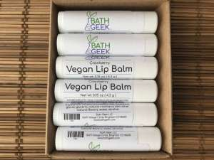 Cranberry Vegan Lip Balm - Box View