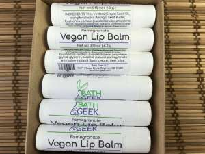 Pomegranate Vegan Lip Balm - Box View