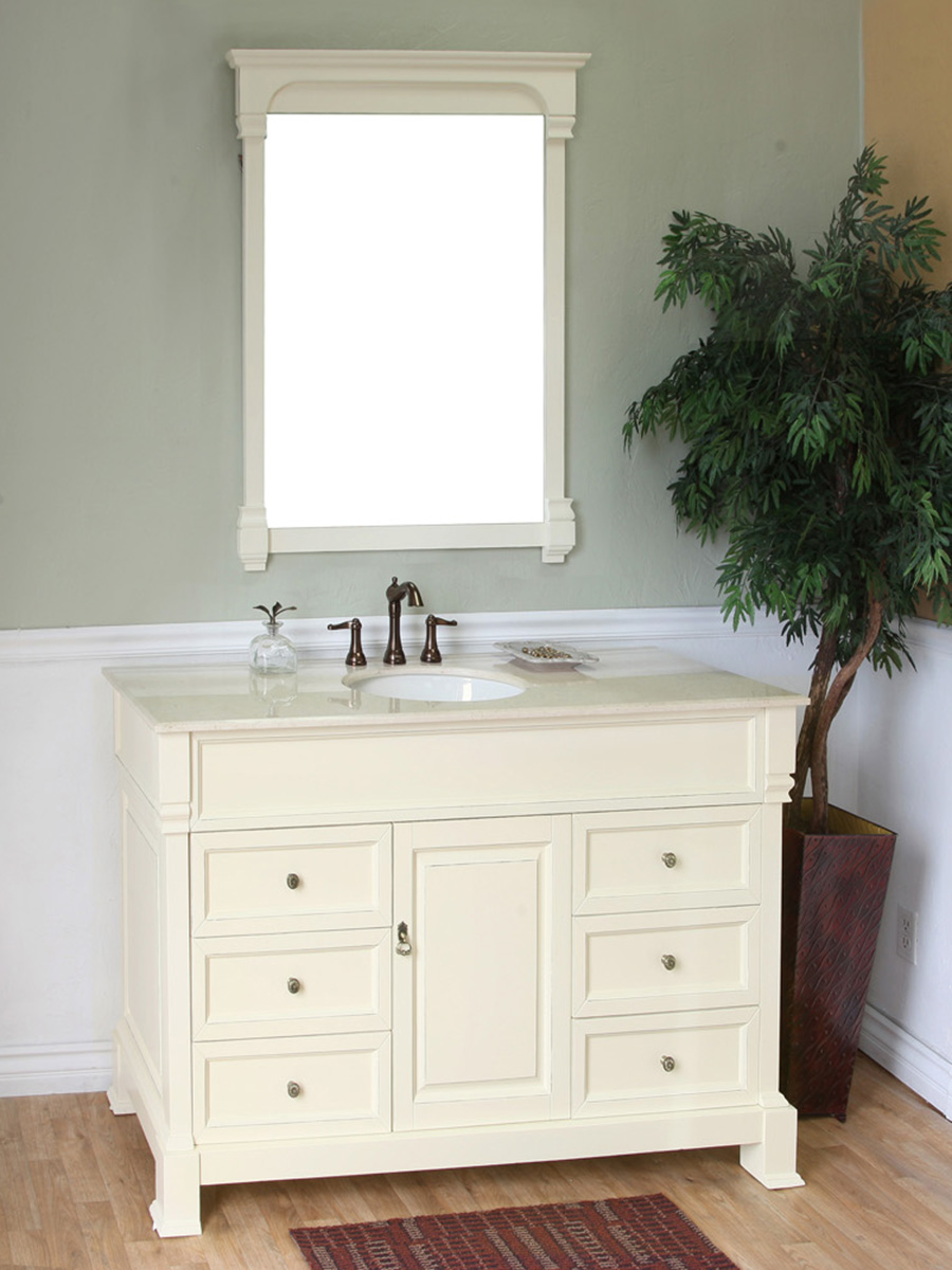 50 Helena Single Bath Vanity Cream