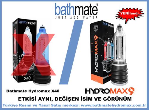 Bathmate Hydromax X40 wideboy adı Hydromax 9 oldu.