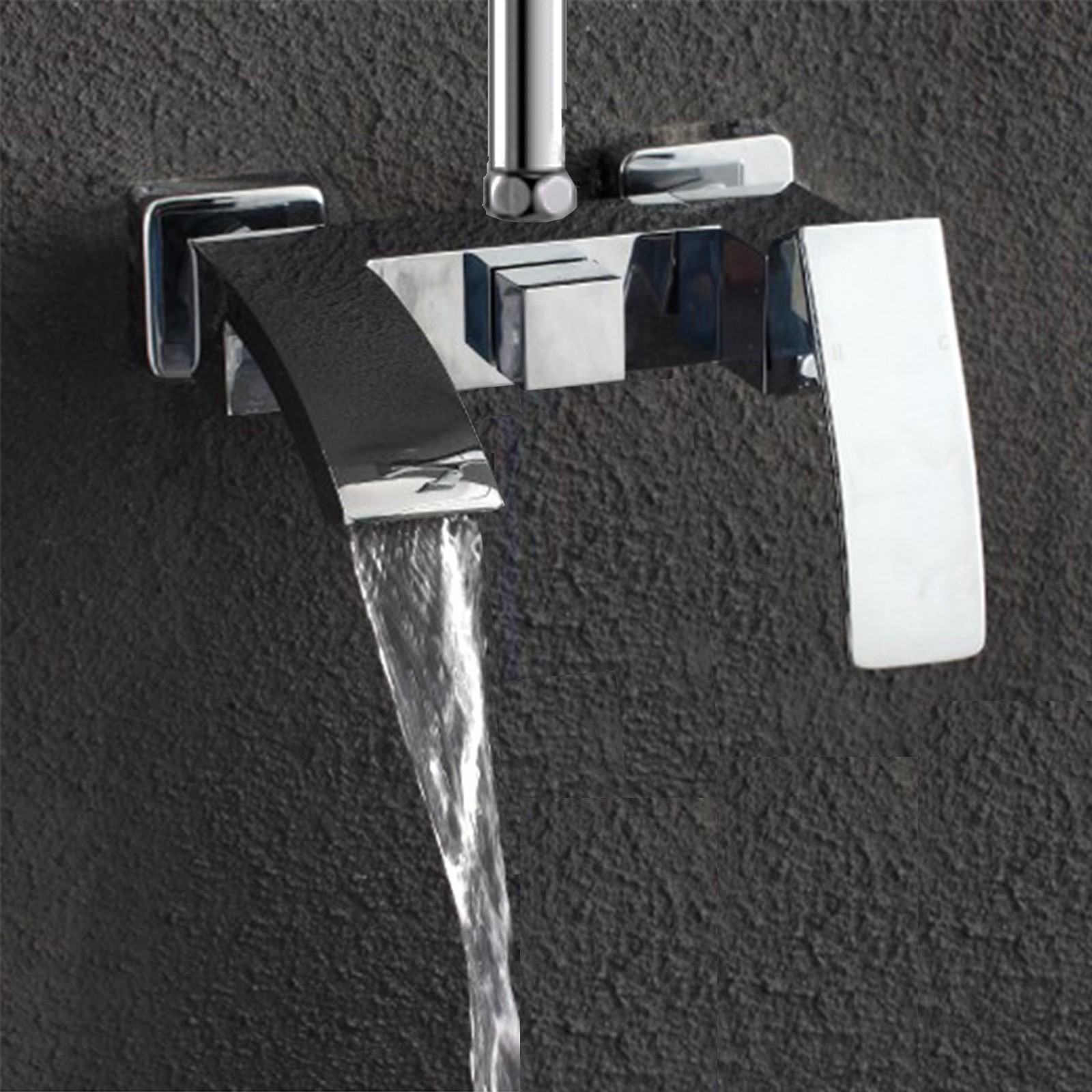 Chelsea Bath Shower Mixer Tap With 3 Way Square Rigid Riser