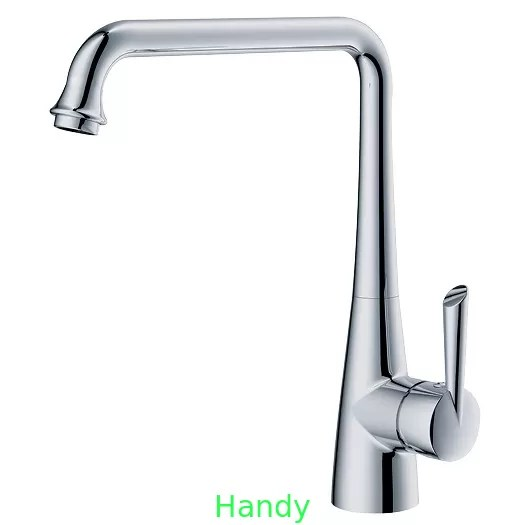 polished chrome kitchen sink water faucet deck mounted one hole kitchen faucet