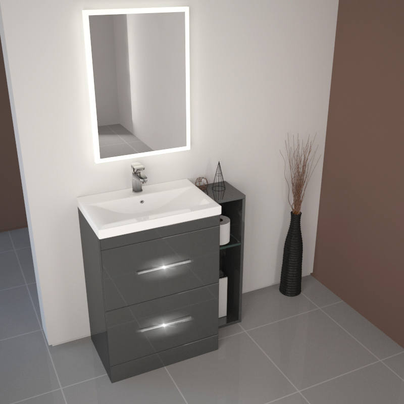 Bathroom Fitted Furniture 810mm Patello Basin Drawer Unit