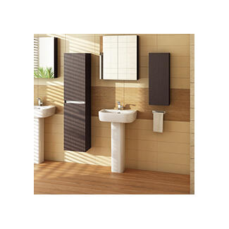 Walnut bathroom furniture