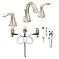 Moen T6420BN-9000 Eva Two-Handle High Arc Bathroom Faucet with Valve, Brushed Nickel