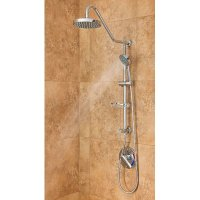 PULSE Showerspas 1011-CH Kauai Retro-Fit Rain Shower System with Handshower and Adjustable Slide Bar, Chrome Finish