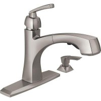 Delta Montauk Single-Handle Pull-Out Sprayer Kitchen Faucet with Soap Dispenser and MagnaTite Docking in SpotShield Stainless