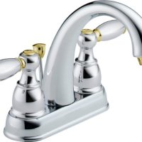 Delta 25995LF-CB-D Two Handle Centerset Lavatory Faucet, Chrome/Brass