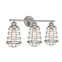 Design House 519728 Ajax 3-Light Galvanized Indoor Vanity Light