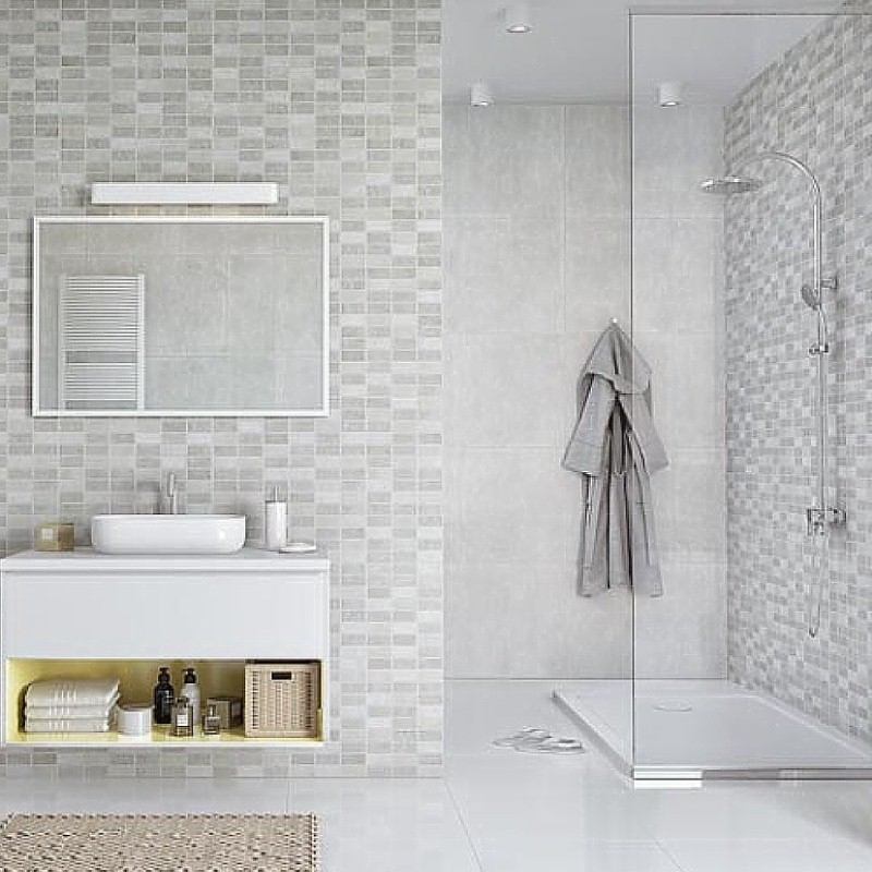 marmo mosaic bathroom panels
