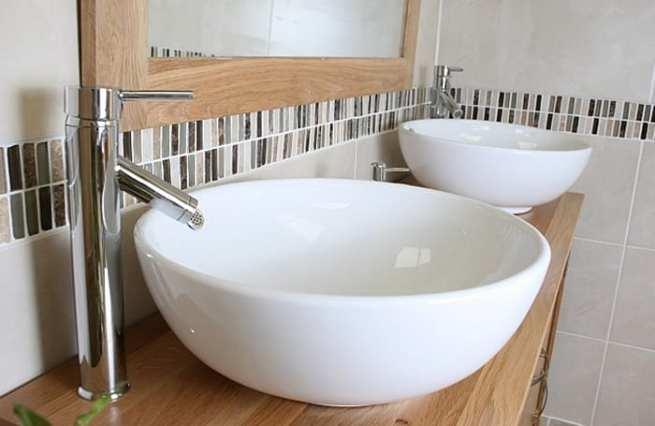 Ceramic Oval Bathroom Basins - Side View