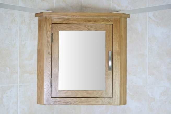 Oak Mirror Bathroom Cabinet