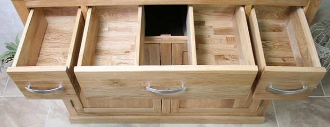 Open Drawers Showing Storage