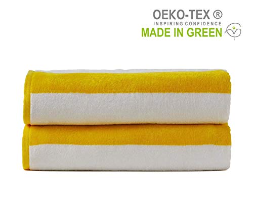 Allure Luxury Quick Dry Absorbent 2pc Cotton Bamboo Bathroom Bath Towels 550gsm