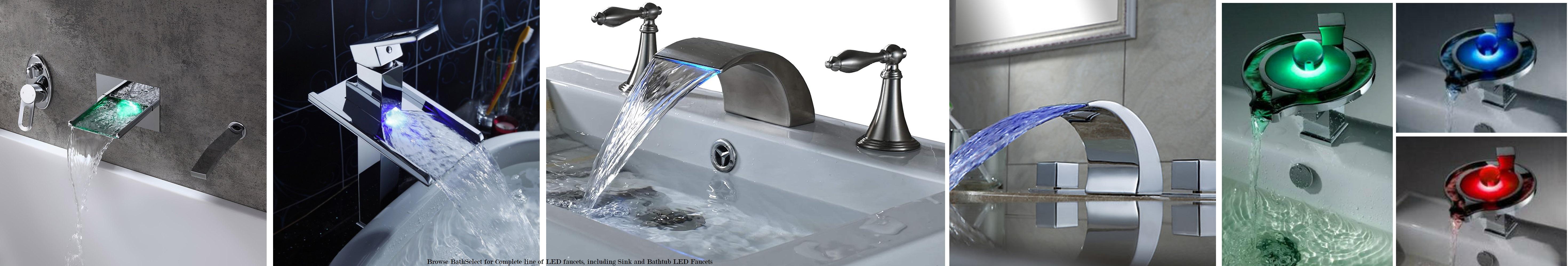 on sale led bathroom faucets