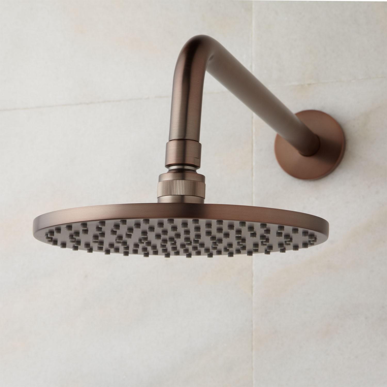Oil Rubbed Bronze Round Rain Shower Head