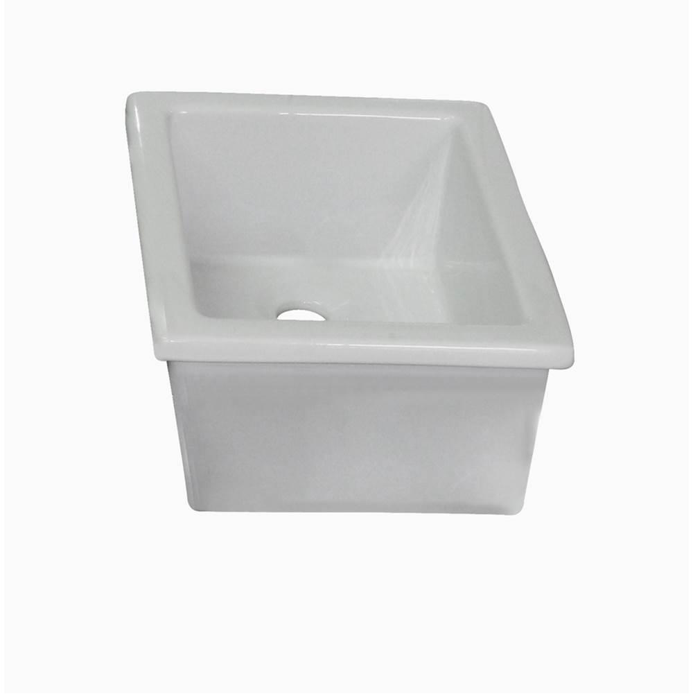 utility sink 14 1 8 x 11 fire clay white