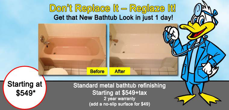resurfacing tub reglazing toronto